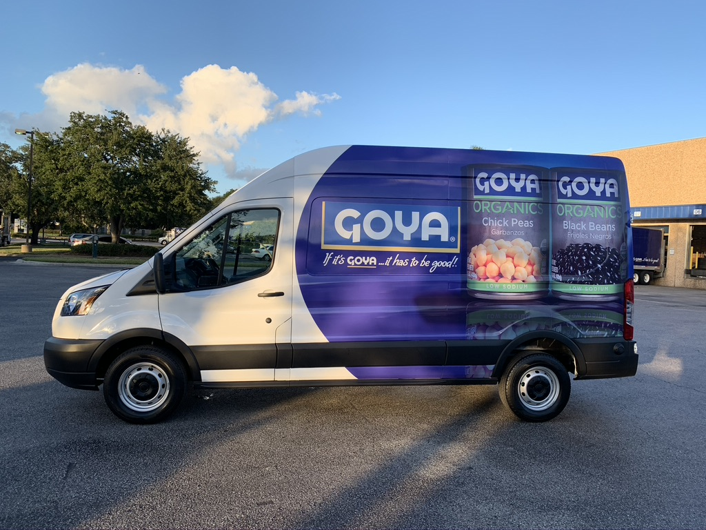 Goya Fleet Truck Wrapped